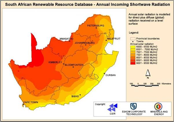 Solar geyser technology explained csir south africa solar radiation map gumiabroncs Images
